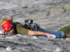 Rock Climbing Photo: Knob Heaven on Pennies on the Patio, 5.9, Moro Roc...