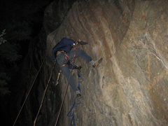 Rock Climbing Photo: Me Drilling Crying Flyboys,at primo wall, on a col...