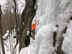 Rock Climbing Photo: Owen top-roping Franky Lee