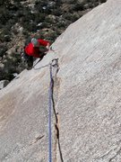 Rock Climbing Photo: Luke following the sweet arching finger crack of R...
