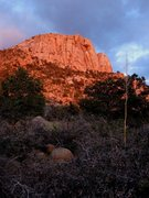 Rock Climbing Photo: Last light falls on the last day of the season as ...