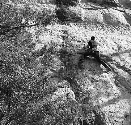 Rock Climbing Photo: BW Back to the Future.