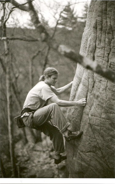Rock Climbing Photo: Erik T. enjoying a crimptastic crack By: Makenzie ...