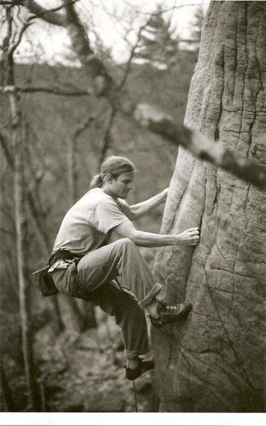 Erik T. enjoying a crimptastic crack<br> By: Makenzie B.