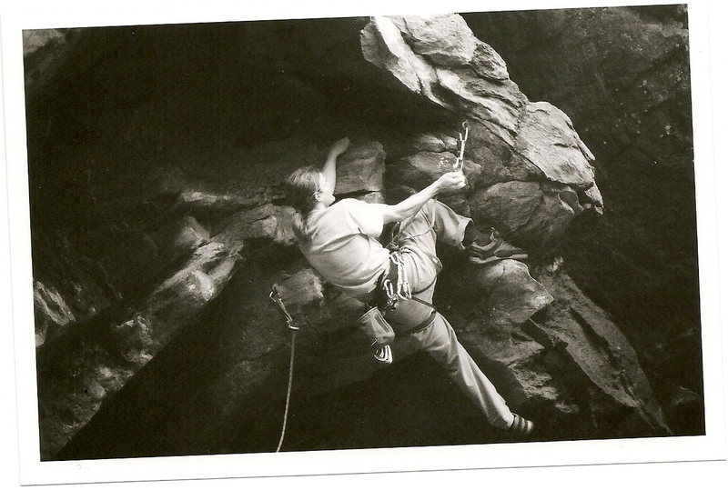 Rock Climbing Photo: Erik T. After the swinging his feet right during t...
