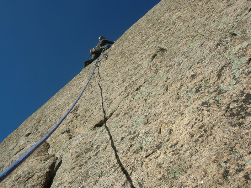 If you get off route, you can do the 5.12 slab like Aaron here!