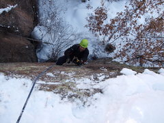 Rock Climbing Photo: Getting a pink point on Dracula. Photo taken by Da...