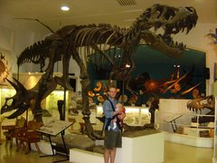 Rock Climbing Photo: With the boy (in July 05) at the natural history m...