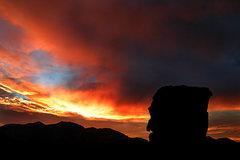 Rock Climbing Photo: Sunset at Blitzo Bluffs. Photo by Blitzo.