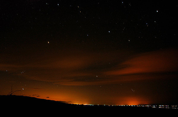 Wonder Valley at night.<br> Photo by Blitzo.