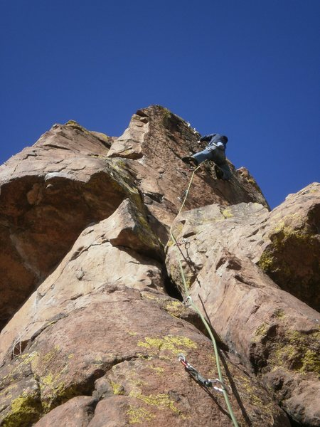 Rock Climbing Photo: Almost up....