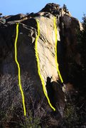 Rock Climbing Photo: Showing new route left of The Saxon Arete. This is...