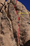 Rock Climbing Photo: Straight in hand crack walk off. Nice warm up befo...