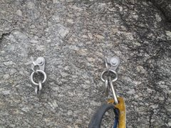 Rock Climbing Photo: Replaced anchors.