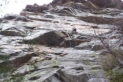 Rock Climbing Photo: GB on an early recon ascent of the large Zen Canyo...