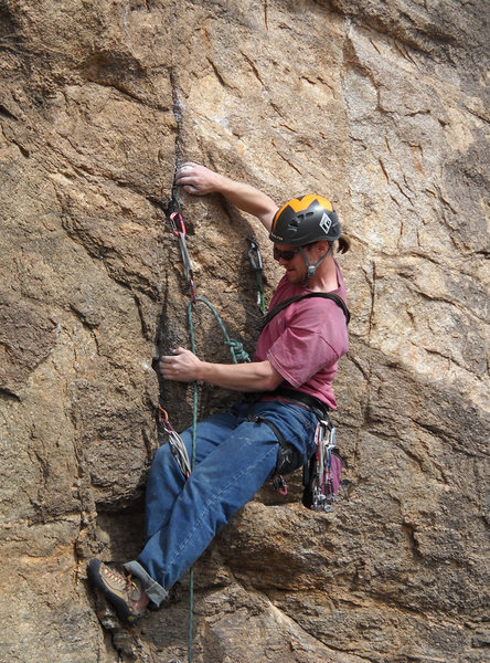 "Rock Climbing Photo: Geir on Gear on Aurora No Boreals.   ""Bolts? ..."