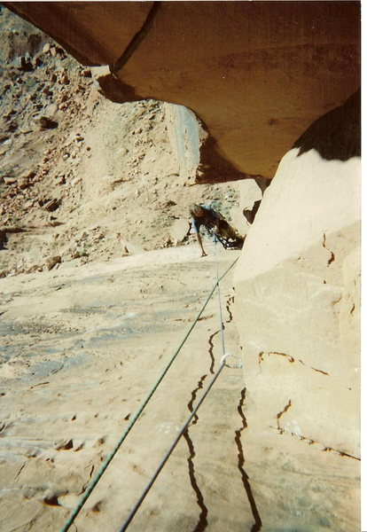 Rock Climbing Photo: The late Mike Baker proudly showing me his find.