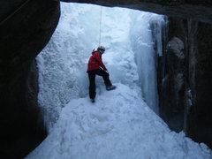 Rock Climbing Photo: Lynda at the base of the climb. Incredible place.