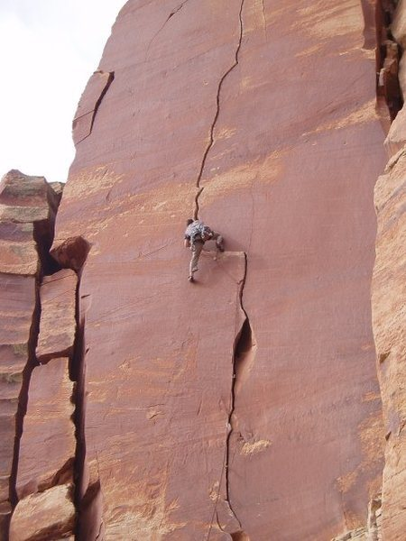 Rock Climbing Photo: First hand traverse.  Photo by Justin Wilcox.