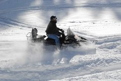 Spearfish Canyon is a great place to go snowmobiling as well as climbing!