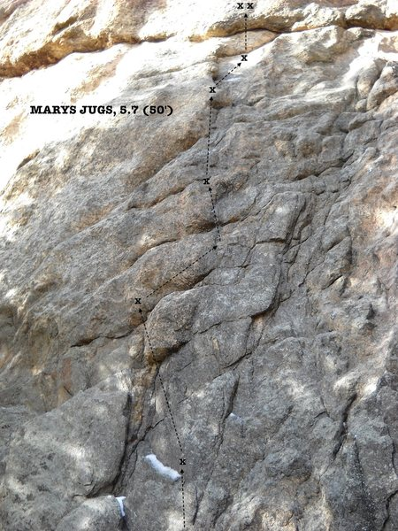 Mary's Jugs, 5.7 (50').
