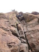 Rock Climbing Photo: Heading into the upper crux....
