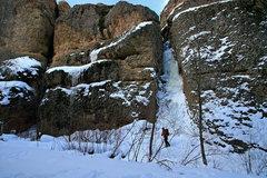 Rock Climbing Photo: Roadside Couloir 2-2-10