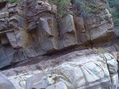 Rock Climbing Photo: Death Arete and Handicapper.
