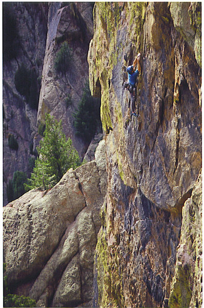 Rock Climbing Photo: Is there any good gear or solid holds up here???