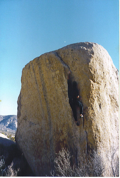 Rock Climbing Photo: The move...1996