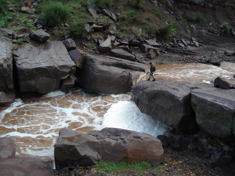 Here is an example of how high the water gets in Tar Creek. Photo from 2007.