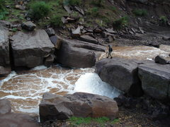 Rock Climbing Photo: Here is an example of how high the water gets in T...