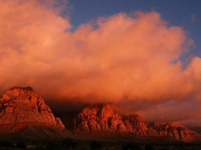 Sunrise at Red Rock just before all Hell cut loose in the valley. 2009 Red Rock Rendezvous.