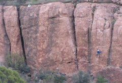"Rock Climbing Photo: The ""Upper Tier,"" at Echo Cliffs, on a b..."