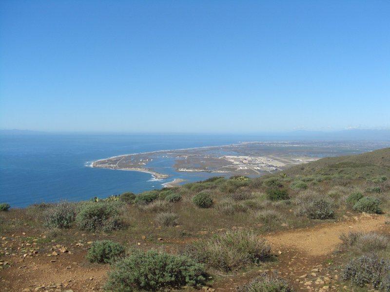 Pt Mugu NAS from Mugu Peak. Mugu marks the southern boarder of the Central Coast climbing areas.