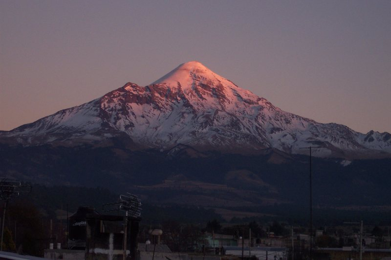 Orizaba from the town of Tlachichuca