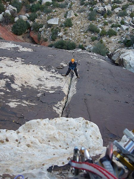 Rock Climbing Photo: Lotta Balls Wall - Looking down from the top of P3...