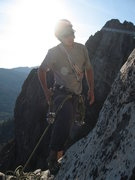 Rock Climbing Photo: Setting up rap anchor to retrieve the cam Kay drop...