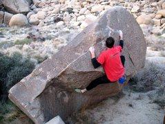 Rock Climbing Photo: Premium Miniature (V0-), Joshua Tree NP