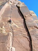 Rock Climbing Photo: Blue Sun - Indian Creek