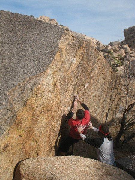 Rock Climbing Photo: Flatface (V4), Joshua Tree NP