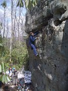 Rock Climbing Photo: Bellaying Lynn Hill at Fork Run in McHenry MD