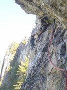 Rock Climbing Photo: Seneca Rocks, Plesent Overhangs 5.7