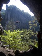 Seneca Rocks Cave. Photo by Bev McFarland