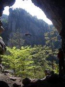 Seneca Rocks Cave. Photo by Bev McFarland