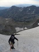 Rock Climbing Photo: Nearing top of Ritter/Banner saddle.