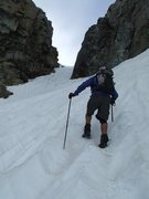 Rock Climbing Photo: Nearing top of Ritter/Banner saddle