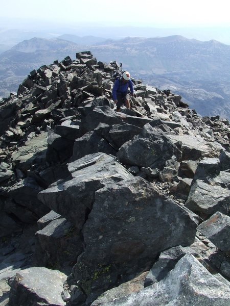 Summit ridge, Mt Ritter.