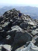 Rock Climbing Photo: Summit ridge, Mt Ritter.