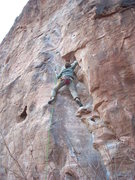Rock Climbing Photo: The start. Katy Mijal on the lead she thought she ...
